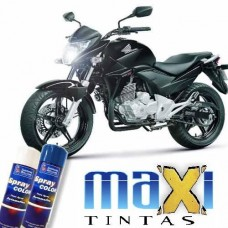 Spray Automotivo Preto Solido + Spray Verniz 300ml
