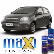 Spray Automotivo Cinza Cromo + Spray Verniz 300ml