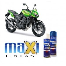 Spray Automotivo Verde Kawasaki Perolizado + Spray Verniz 300ml