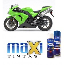 Spray Automotivo Verde Kawasaki + Spray Verniz 300ml