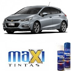 Spray Automotivo Cinza Satin Steel GM + Verniz Spray 300ml