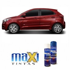 Spray Automotivo Vermelho Merlot Ford + Verniz Spray 300ml
