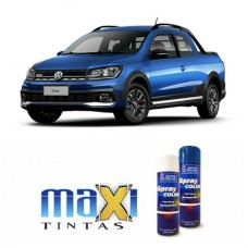 Spray Automotivo Azul Ravenna VW + Verniz Spray 300ml