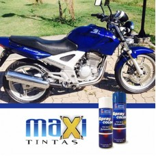 Spray Automotivo Azul Twister Honda Motos + Verniz Spray 300ml