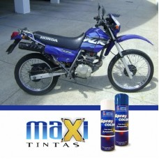 Spray Automotivo Azul XLR Honta Motos + Verniz Spray 300ml