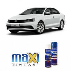 Spray Automotivo Branco Puro VW + Verniz Spray 300ml