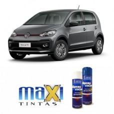 Spray Automotivo Cinza Platinum VW + Verniz Spray 300ml