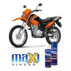Spray Automotivo Laranja Bros Honda Motos + Verniz Spray 300ml