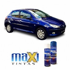 Spray Automotivo Azul da China Peugeot + Verniz Spray 300ml