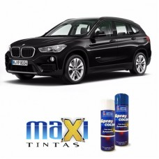 Spray Automotivo Preto Safira BMW + Verniz Spray 300ml