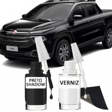 Tira Risco - Fiat Preto Shadow + Verniz 15ml
